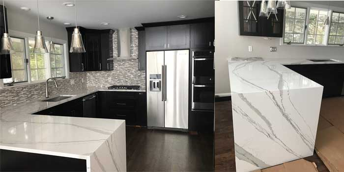 image of counter tops and cabinets